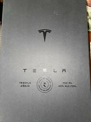 Empty Tesla Tequila Bottle + Stand + Box Limited In Hand
