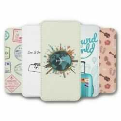 For Samsung Galaxy S8 Flip Case Cover Travel Collection 3