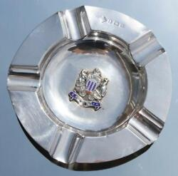 Orient Line Ss Orsova 4.5 Solid Silver Ashtray C-1920 Sold Onboard Souvenir A/f