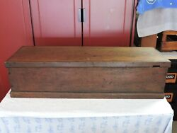 Vintage Wooden Carpenters Tool Chest 1