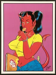 Coop Cpl03s School Devil Girl 1999 Rare Signed Special Ed Of 100 Litho Poster