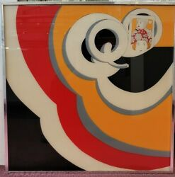 Tony L. Rivers Painting On Glass Queen Of Arts 1970s Framed