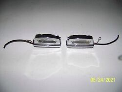 Mercedes Benz Chrome Rear License Plate Lights Off 1968 280se W108 L And R