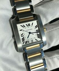 Tank Francaise Automatic Yellow Gold And Steel 2302 Two Tone 28mm X 34mm