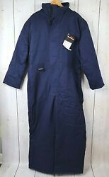 Vtg Bulwark Indura Flame Resistant Fr Insulated Coveralls Sz Xxl Hooded Jumpsuit