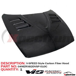 [ V-speed Style ] Gloss Carbon Fiber Hood For 04-11 Mazda Rx-8 [ Vis Racing ]