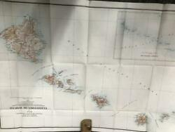 [2] Territory Colored Maps Of Hawaii 1904 Frank Bond Dept. Of Interior 34x231/2