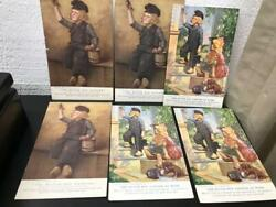 Vintage 6 Postcards Advertising National Lead Co 'the Dutch Boy Painter At Work