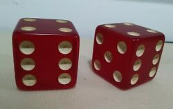 Large Giant Jumbo Square Dice Clear Transparent Red Handmade F