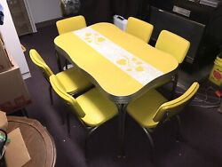 Mid Century Modern Dinette Table And Chairs Vintage 1950s Formica Read Description