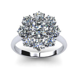 1.20 Ct Real Diamond Solid 14k White Gold Bridal Engagement Ring Sizes 4 5 6 7 8