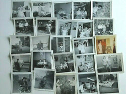 Old Black And White Photos 1951-1961 One Color 25 Total Kids Tvs Wedding Refrig.