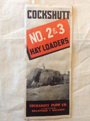 Vintage 1940and039s Cockshutt No. 2 And. 3 Hay Loaders Catalog Brochure