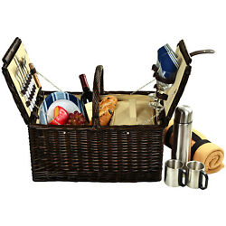 Picnic At Ascot Surrey Picnic Basket For 2 W/ Blanket And Coffee Service 713bc