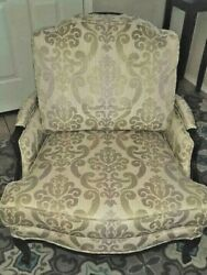 Ethan Allen Versailles Chair Country French Model 13-7136 Damask Print Comfy