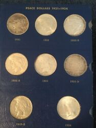 Set Of 23 Peace Silver Dollars 1923-1935 1928 Is Missing