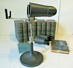 Keystone Stereoscope Viewer And Tour Of The World Vol 1-8 400 Cards Book And Maps