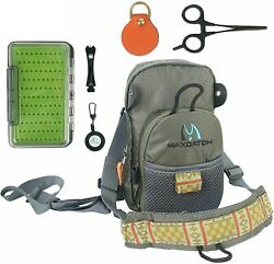 V-comp Fly Fishing Chest Bag Lightweight Chest Pack Outdoor Sports Pack