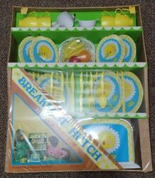 Vintage Ohio Art Breakfast Hutch Tin And Play Toys New Sealed Sunflower