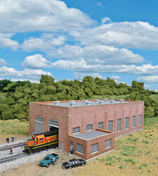 N Scale Walthers Cornerstone Two-stall 130and039 Brick Diesel House