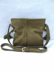Anthropologie Tela Mini Crossbody by Miss Albright Luxe Nubuck Leather Pre Owned $23.50