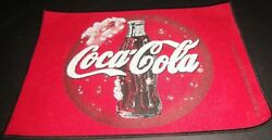 Coca Cola Coke Soda Bottle Fabric Red Black Kitchen Dining Placemats Lot Of 4