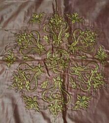 A Stunning Large Ottoman Islamic Or Greek Gold Treads Embroidery On Silk