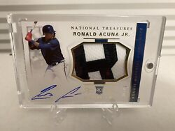 🔥2018 Panini National Treasures Ronald Acuna Rpa /49 Auto Patch Relic Rc 🔥