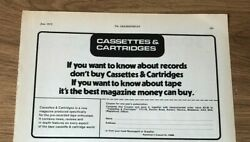 Stgjun1973 Pg105 Advert5x8 Cassettes And Cartridges, Best Magazine About Tapes