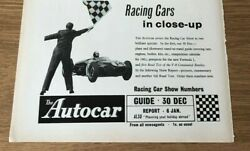 Sta49 Advert 5x8 The Autocar Magazine, The Racing Car Show - 2 Great Specials