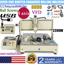4axis 6090 Cnc Router Engraver Milling/drilling Engraving 3d Cutting Machine Usa