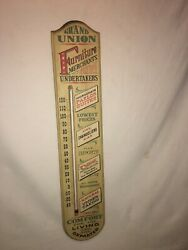 Grand Union Furniture Merchants And Undertakers Thermometer 1967 Yorkraft Vintage