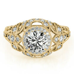 0.90 Ct Real Diamond Solid 14k Yellow Gold Wedding/engagement Ring Sizes M N K L