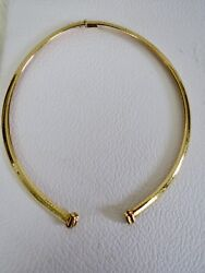 18k Yellow Gold 6mm Domed Omega Collar Parts For Constructing Centerpiece 37.8g