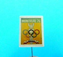 Poland Noc For Olympic Games Montreal 1976 - Nice Old Pin Badge Larger Size