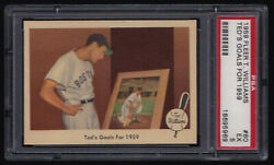 Ted Williams / 1959 Fleer Ted Williams 80 / Psa 5 / Red Sox / Free Shipping