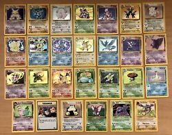 Vintage Pokémon Card Lot Of 27 Holo Cards Base Set Charizard And More Lp