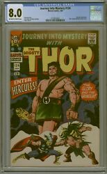 Cgc 8.0 Journey Into Mystery 124 Classic Hercules Cover 2nd Appearance Ow/w Pgs