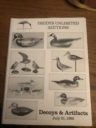 Duck Decoy Auction Catalog, Decoys Unlimited 7/21/1992 Ted Harmon Artifacts Bird