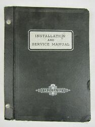 Frigidaire Installation And Service Manual General Motors 1943 Used