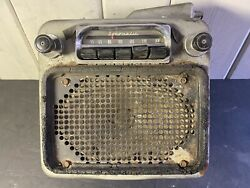Delco Gm Antique Car Radio 12v Model 981651 Complete Untested Good Project 4 You