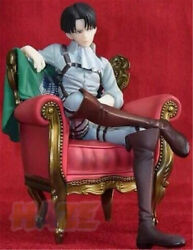 Attack On Titan Levi Rivaille Rival Figure Ackerman With Sofa Pvc Model Toy 15cm