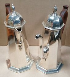 1928 Sterling Silver Cafe Au Lait Set In George I Style