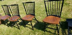 Set Of 4 Windsor Style Dining Room Side Chairs In Ct