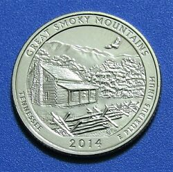 2014-s 25c Great Smoky Mountains Tennessee National Park America Beautiful Qtr