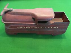 Special Western Flyer Child's Metal Ride-on Train Engine Antique