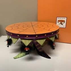 Rare Dept 56 Witch Shoe Cake Plate Krinkles Patience Brewster Halloween 2005