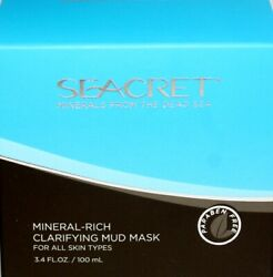 Seacret Minerals From The Dead Sea Mineral Rich Clarifying Mud Mask 3.4oz