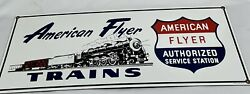 Old Rare Ande Rooney Repro Porcelainsign American Flyer Lionel Trains
