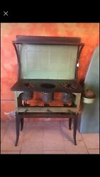 1920's Antique Windsor Wickless Automatic Stove Green Metal
